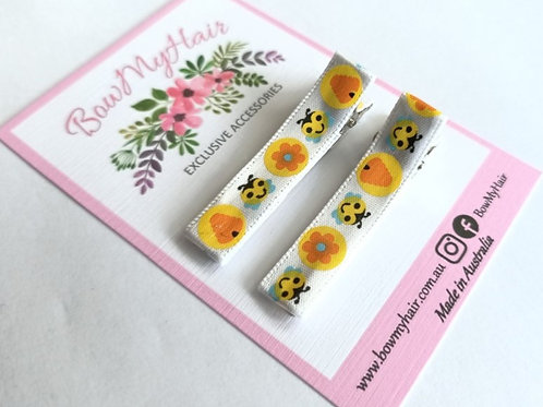 Bees and Beehive Pattern Clips