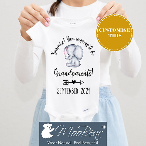 Surprise you're going to be grandparents Bodysuit