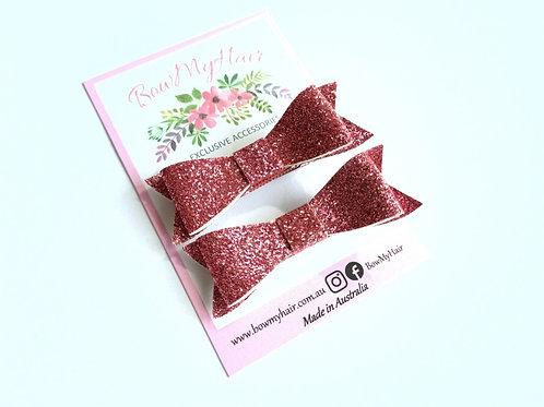 Hot Pink Glitter Hair Clip