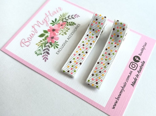 Cotton Candy Pattern Clips