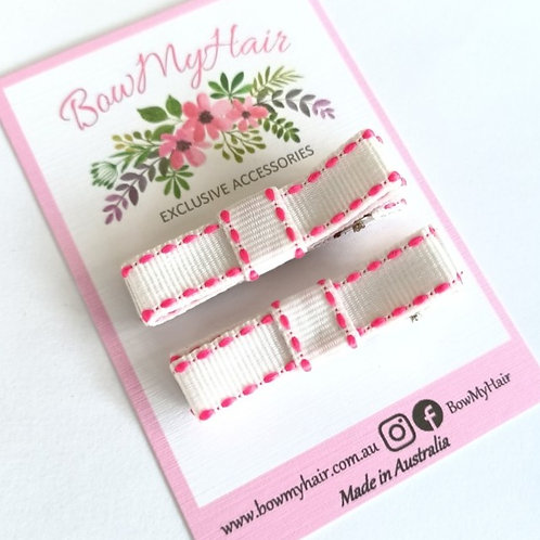 White/Pink Stitch Clips