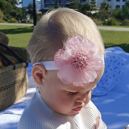 Amazing Pink Peony Headband