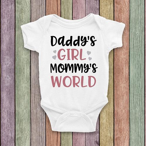 Daddy's Girl, Mommy's World Bodysuit