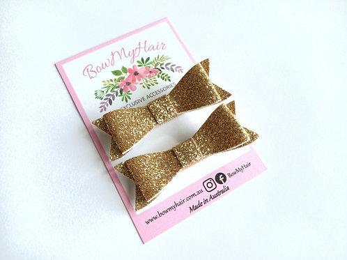 Old Gold Glitter Hair Clip