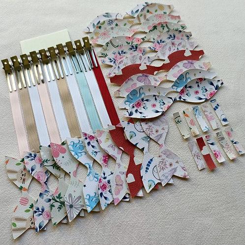 Craft your own hair bows set 3!  Makes 10 Hair Bows!