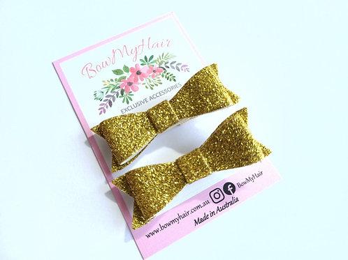Yellow Gold Glitter Hair Clip