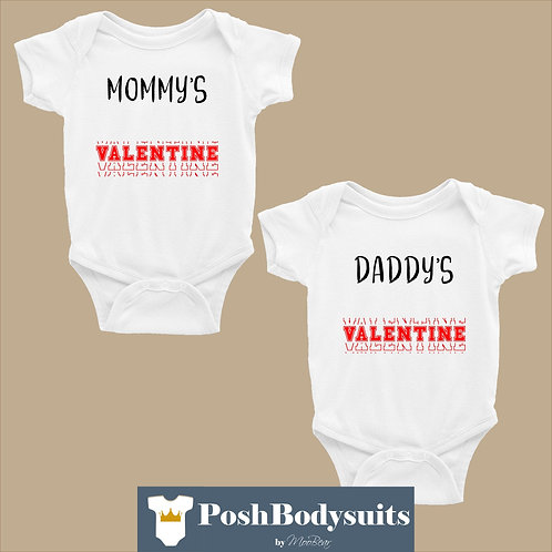 Twins Valentine's day Bodysuits