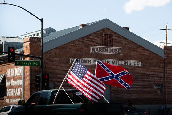 Black Lives Matter & Blue Lives Matter meet in Douglas County
