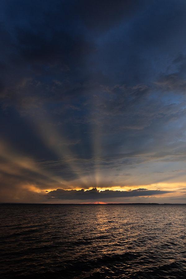 Lake Champlain Sunset Rays (Trevor Bexon)