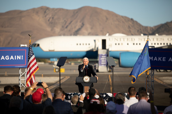 Vice President Mike Pence campaigns in Reno