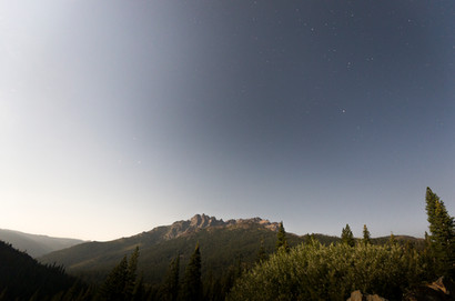 Moonshine on the Sierra Buttes