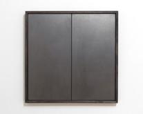 Study for Untitled Achilles & Patroclus), 2016, graphite, ash wood, 50 x 50 x 4 cm