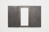 Untitled (Bob, James, River), 2018, brass, canvas, graphite, timber, 77 x 50 x 2 cmprivate collection, Brighton UK