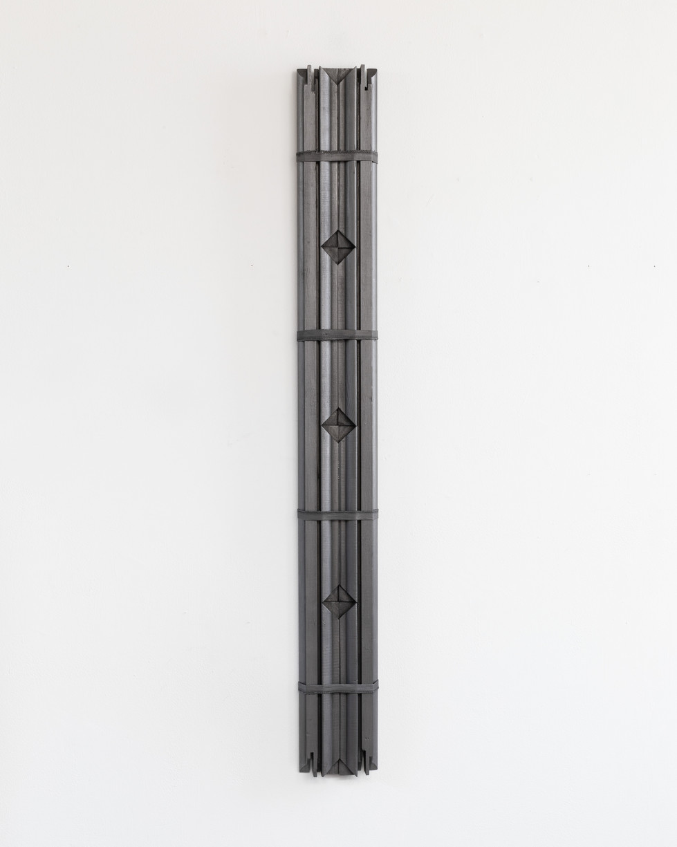 Object Q viii. graphite on stretcher bar