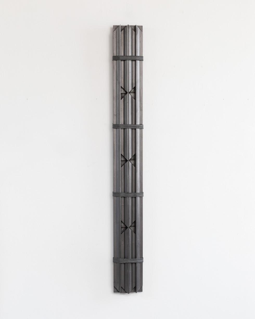 Object Q v. graphite on stretcher bars w