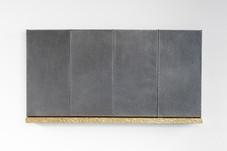 Untitled (Daniel, Joseph, Jacob, Samuel) brass, graphite, pine, steel 120 x 60 x 6 cm 2020