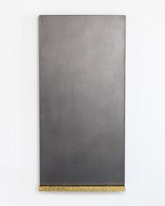 7. James William Murray. Untitled (James) viii graphite, linen, brass, timber, steel. 60 x