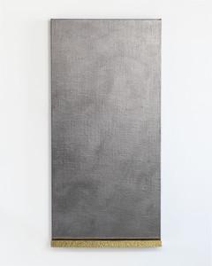4. James William Murray. Untitled (James) vi graphite, linen, brass, timber, steel. 60 x 1