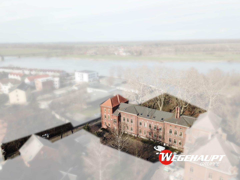 Luftaufnahme Blick Elbe Bestand