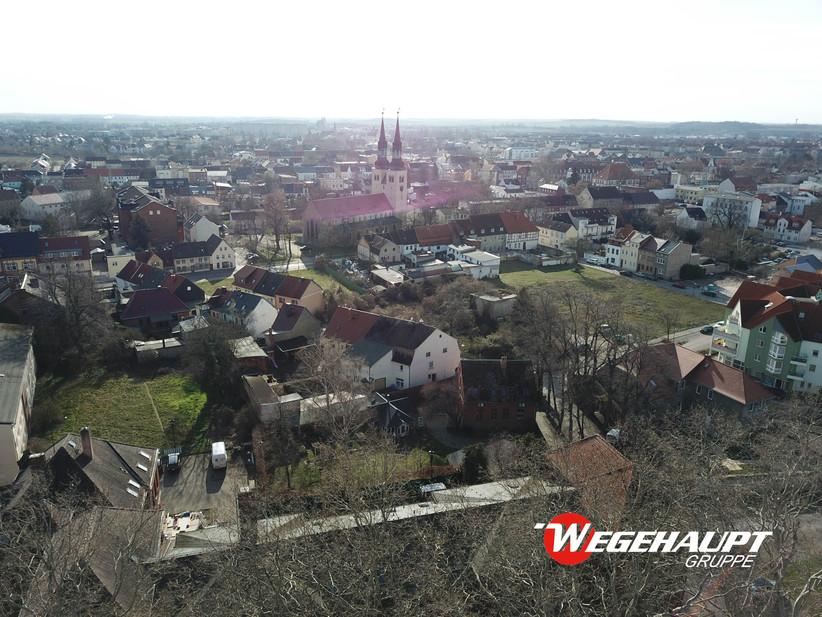 Luftaufnahme Blick Stadt Bestand