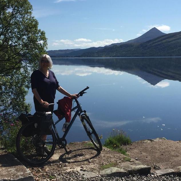 'The Freedom of Cycling - Loch Rannoch' by Margaret Burgess