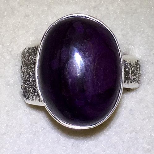 Navajo Sterling Silver Sugalite Ring