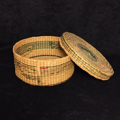 Northwest Coast Native American Basket with Lid