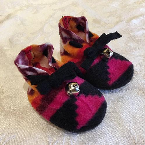 Navajo Handmade Pink Pendleton Baby Booties Socks