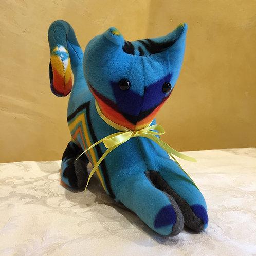 Navajo Handmade Turquoise Pendleton Cat Yllw Collar