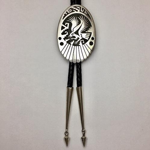 Hopi Sterling Silver Eagle Bolo Tie