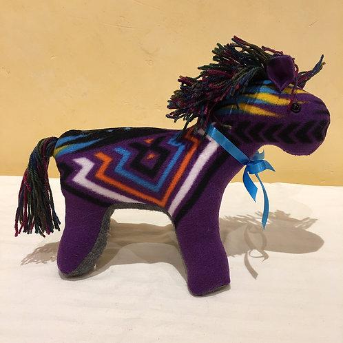 Navajo Handmade Purple Pendleton Horse Blu Collar