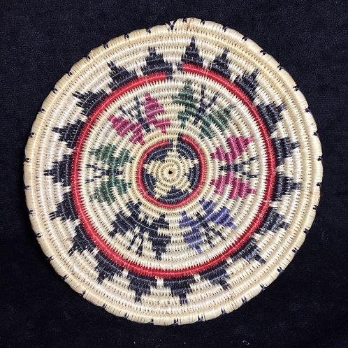 Navajo Paiute Butterfly Traditional Woven Basket