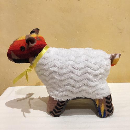 Navajo Handmade Tan Pendleton Sheep Yllw Collar