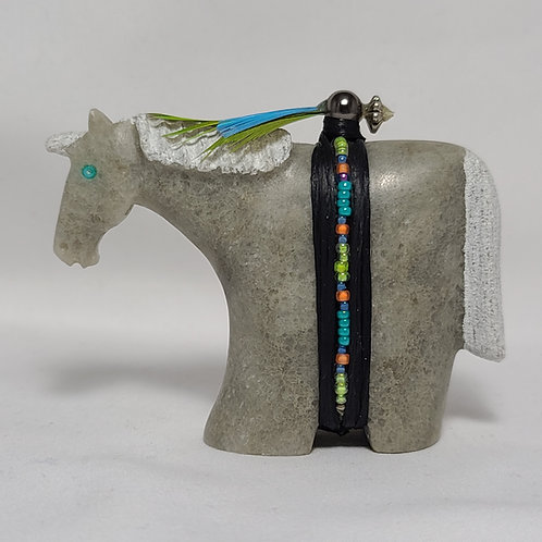 Navajo Carved Alabaster Horse Fetish Harold Davidson
