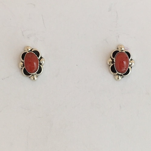 Coral Post Earrings