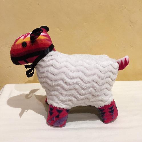 Navajo Handmade Pink Pendleton Sheep Blk Collar