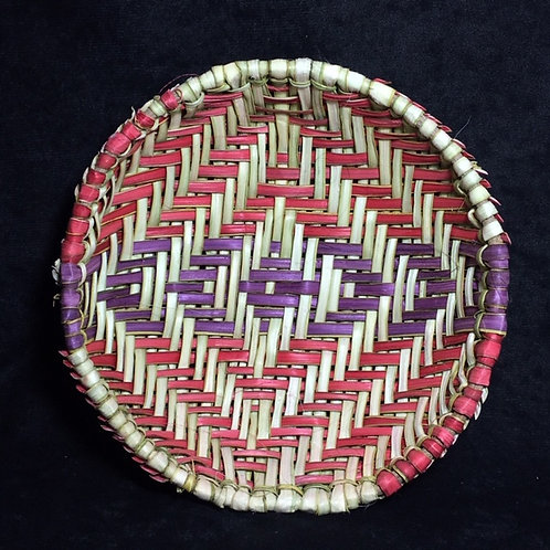 """Hopi Stiffer Woven 7"""" Basket"""