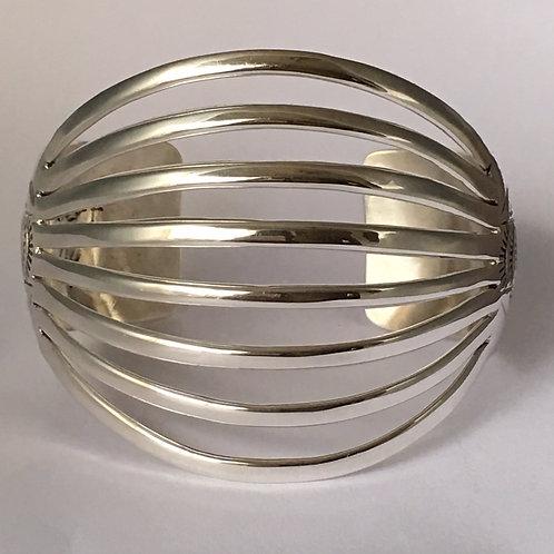 Navajo Sterling Silver Spread Wire Cuff Bracelet