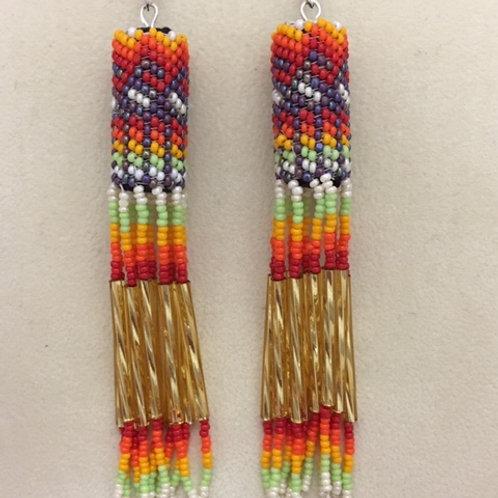 Navajo Handmade Beaded Hook Earrings