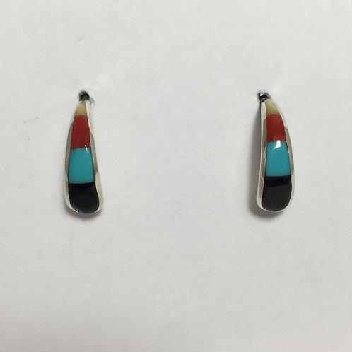 Mulitstone Zuni Inlaid Earrings