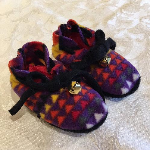 Navajo Handmade Purple Pendleton Baby Booties Socks
