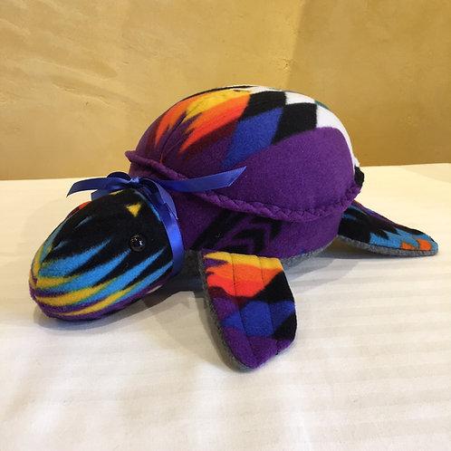 Navajo Handmade Purple Pendleton Water Turtle