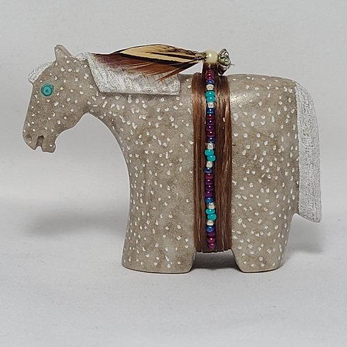 Navajo Carved Appaloosa Alabaster Horse Fetish Harold Davidson
