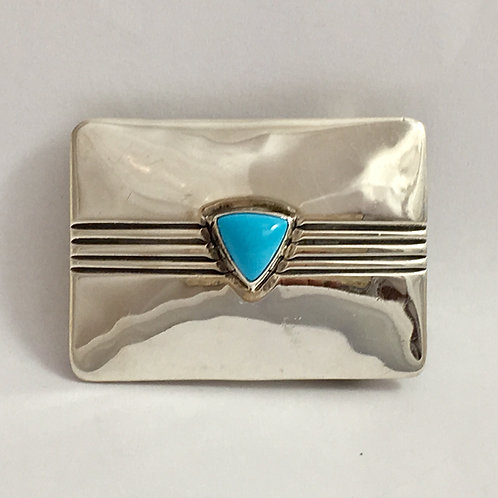 Navajo Sterling Silver Turquoise Buckle