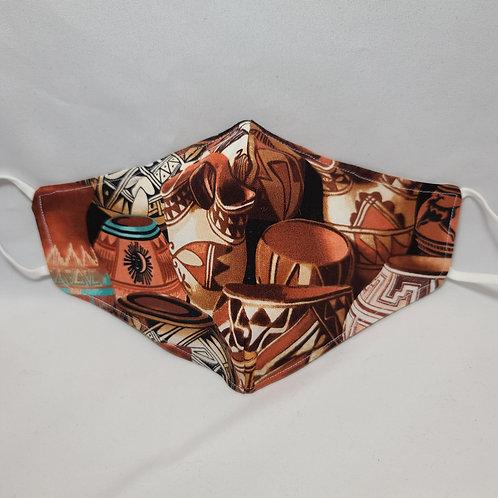 Handmade Pottery Design Face Mask #5