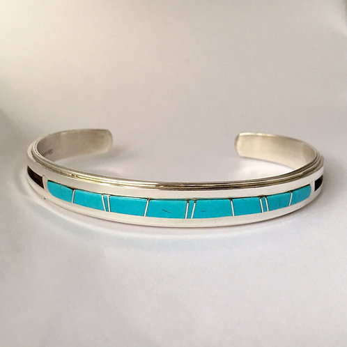 Navajo Sterling Silver Sleeping Beauty Cuff Bracelet