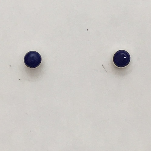 Zuni Sterling Silver Lapis Post Earrings