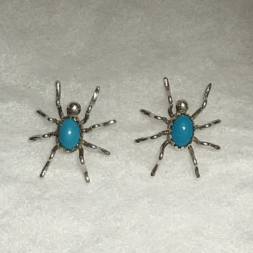 Sterling Silver Turquoise Spider Post Earring