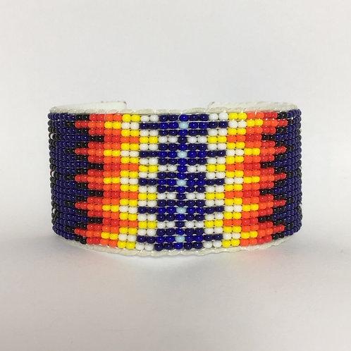 Navajo Beaded Wide Cuff Native Bracelet