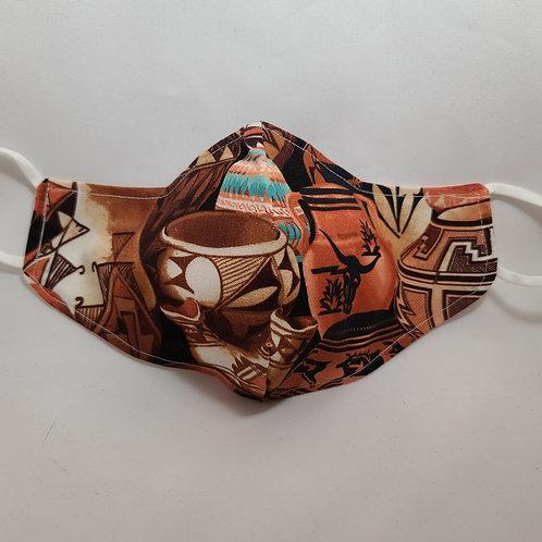 Handmade Pottery Design Face Mask #2